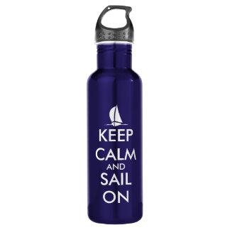 航海のな|の平静そして帆を保って下さい ウォーターボトル