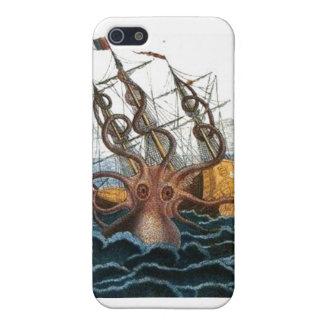 航海のなSteampunk Krakenの巨大なタコ iPhone SE/5/5sケース