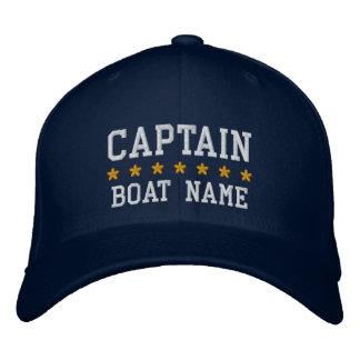 航海のなYour Boat Name Cap大尉の青 刺繍入りキャップ