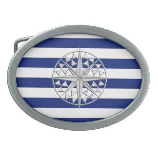 航海ののクロムスタイルのコンパスは縞で飾ります 卵形バックル