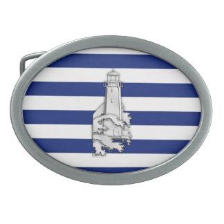 航海のの灯台のようなクロムは縞で飾ります 卵形バックル