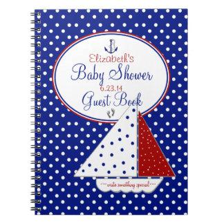 航海のベビーのシャワーの来客名簿 ノートブック