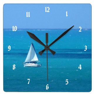 航海 スクエア壁時計