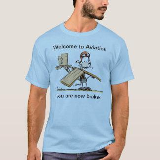 航空おもしろTシャツへの歓迎 Tシャツ