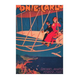 航空スポーツのなポスター キャンバスプリント