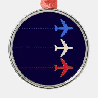 航空会社の飛行機 メタルオーナメント