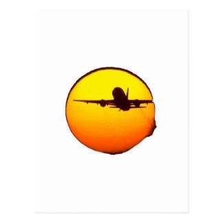 航空会社日曜日 ポストカード