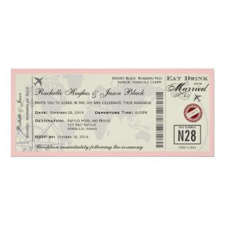 航空券の結婚式招待状 10.2 X 23.5 インビテーションカード