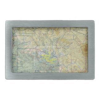 航空地図のベルトの留め金 長方形ベルトバックル