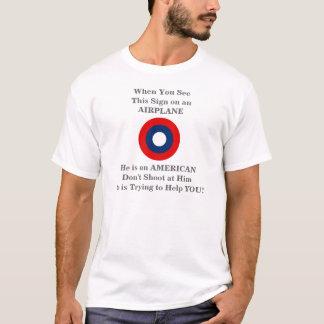 航空業務の警告のリーフレットのティー Tシャツ