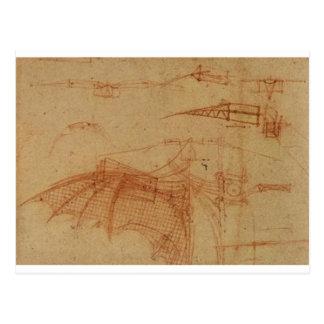 航空機のためのデザイン ポストカード