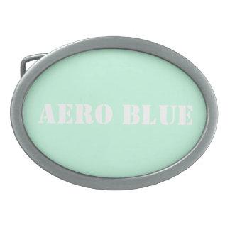 航空機の青 卵形バックル