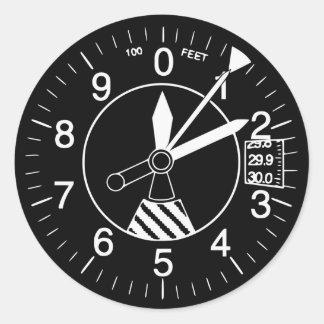 航空機の高度計のゲージ ラウンドシール