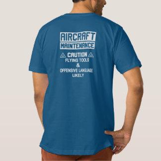 航空機整備の安全 Tシャツ