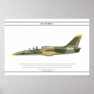 航空機L-39アブハジア ポスター