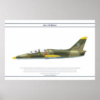 航空機L-39ウクライナ ポスター