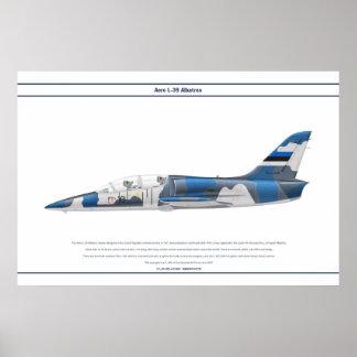 航空機L-39エストニア ポスター