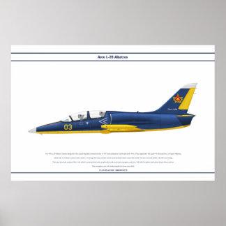 航空機L-39カザフスタン ポスター