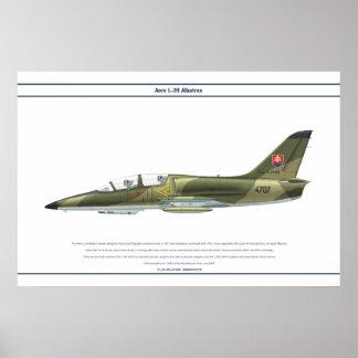 航空機L-39スロバキア ポスター