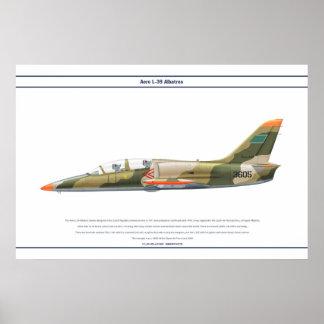 航空機L-39リビア ポスター