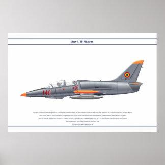 航空機L-39ルーマニア ポスター