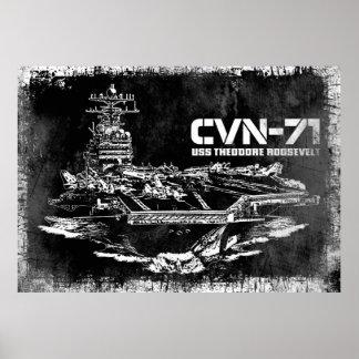 航空母艦のセオドア・ルーズベルトのプリント ポスター