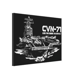 航空母艦セオドア・ルーズベルトWrappedcanvas キャンバスプリント