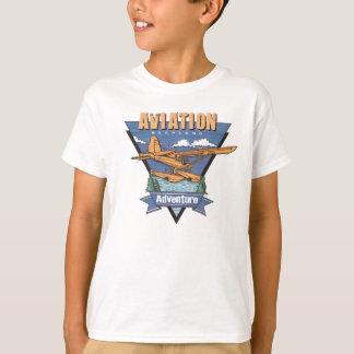 航空水上飛行機の冒険 Tシャツ