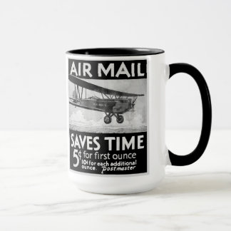 航空郵便は時間のマグを救います マグカップ