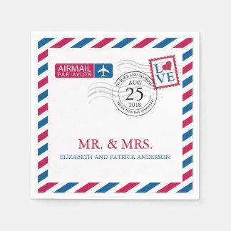 航空郵便|の結婚披露宴 スタンダードカクテルナプキン