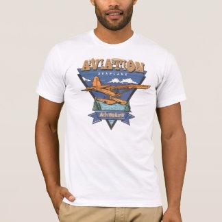 航空-水上飛行機の冒険 Tシャツ