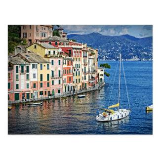 航行Portofinoおよびリビエラのイタリアンな郵便はがき ポストカード