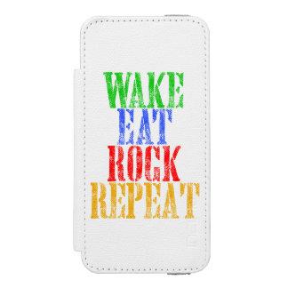 航跡は石の繰り返し#3を食べます INCIPIO WATSON™ iPhone 5 ウォレット ケース