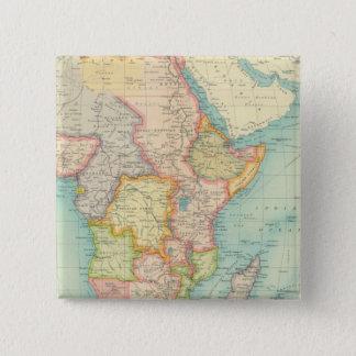 航路が付いているアフリカの地図 缶バッジ