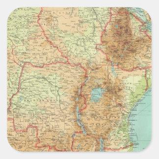 航路が付いている中央及び南アフリカ スクエアシール
