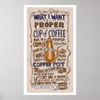 舷側適切なコーヒー ポスター