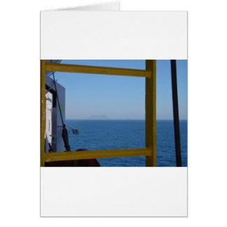 船からの眺め カード