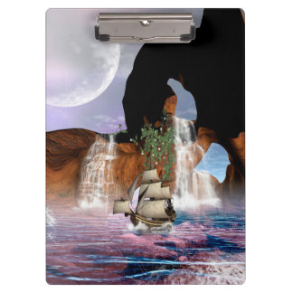 船との海上の素晴らしい眺め クリップボード