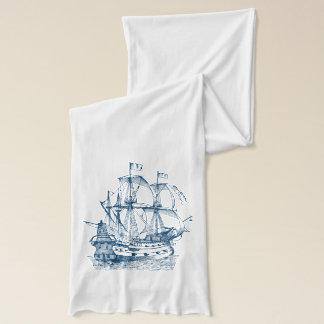 船のいかりの航海のな濃紺の白のスカーフ スカーフ