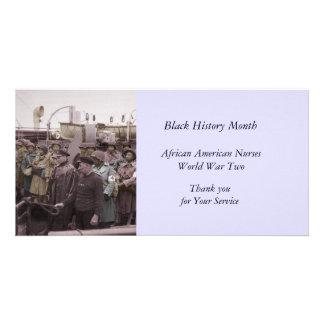 船のアフリカ系アメリカ人のナース カード