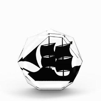 船のシルエット 表彰盾