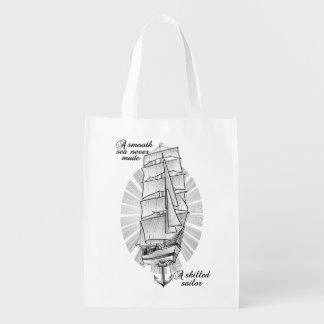 船のスクーナー船の引用文 エコバッグ