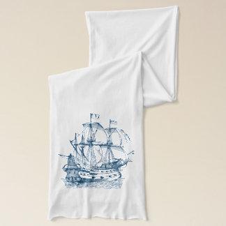 船のボートの航海のな濃紺の白のスカーフ スカーフ