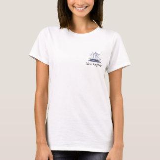 船のロゴのニューイングランド Tシャツ