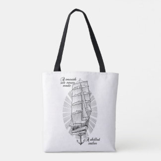船の船員の入れ墨のイラストレーション トートバッグ