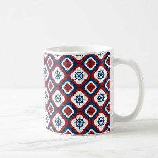 船の車輪およびいかり コーヒーマグカップ