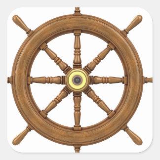 船の車輪によってインスパイアデザイン スクエアシール