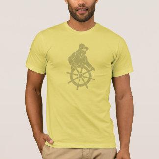 船の車輪のアメリカの服装のティーの大尉 Tシャツ