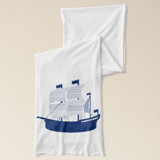 船及びいかり スカーフ