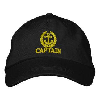 船員のいかりのモチーフの大尉 刺繍入りキャップ